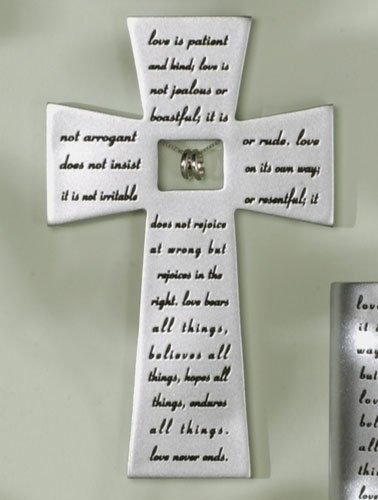 Love Never Fails Wall Cross