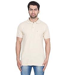 Gio Men's Cotton T-Shirt (AMZ_AMP_166_Beige_Medium)
