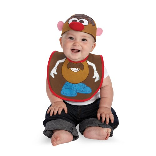 Disguise Costumes  Mr Potato Head Infant Bib and Hat  Accessory, Brown/Blue/Red/White, 0-12 Months