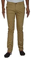 CODE 51 Men's Casual Trouser (PE026, Beige, 30)