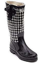 Women Rubber Rain Boots, Bellow Knee Boots Great for Garden Work or Rainy Day,Garden Collection