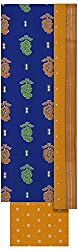 Mayura Women's Cotton Unstitched Salwar Suit (Blue and Yellow)