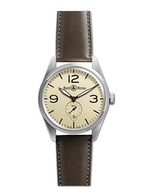 Bell and Ross Vintage Original Cream Dial Automatic Mens Watch BRV123-CRM-ST