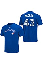 R.A. Dickey Toronto Blue Jays Royal Player T-Shirt by Majestic