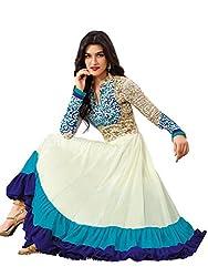 Exollent Services Fashionable Georgette Long Straight Unstitched Salwar Kameez