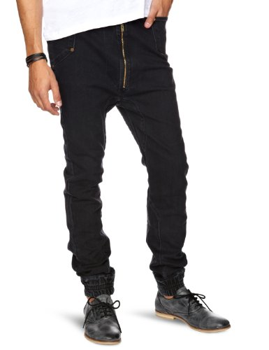 Trikki Copen Drop Crotch Men's Jeans  Black Washed W34in x L34in