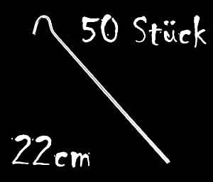 Zeltheringe 22 cm aus verzinktem Stahl 50 Stück