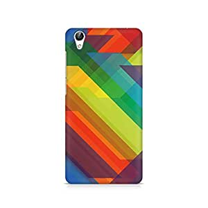 Ebby Colored Abstract Triangles Premium Printed Case For Vivo Y51L
