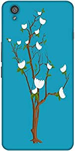 Snoogg white daisies branches Hard Back Case Cover Shield For One Plus X / Oneplus X
