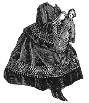 1876 Dress for Girl 6-8 Years Pattern