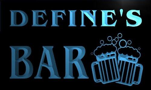 W128115-B Define'S Name Home Bar Pub Beer Mugs Cheers Neon Light Sign