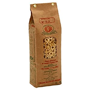 Rustichella Anellini Pasta, 17.5-Ounce Bags (Pack of 4)