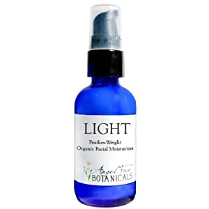 LIGHT - Feather-Weight Organic Facial Moisturizer with Rooibos Antioxidants, MSM and DMAE - 2 Oz by Angel Face Botanicals