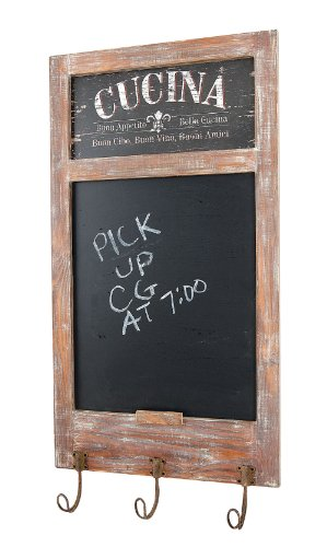 CBK Ltd Wood Cucina Wall Decor with Blackboard in Center, 15-Inch by 29-Inch