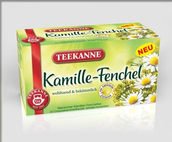 Teekanne Kamille-Fenchel (Camomile-Fennel) / 2X 20 Tea Bags / Fresh + Direct German-Import