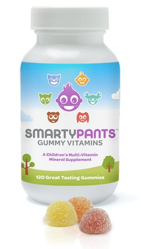 SmartyPants- The Total Vitamin Treat: Pediatrician-approved Gummy Multi-Vitamin with Omega 3 & Vitamin D: 120 count single bottle
