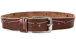 Quero Men's Harness Casual Belt (4002_Brown_Large)