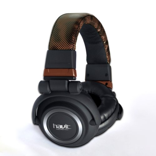 Havit® Hv-H91Dj 3.5Mm Professional Stereo Studio Dj Headset Headphone With Microphone, Perfect Graduation Gift, Brown