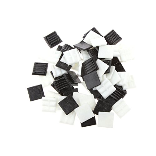 Magideal 200g 20*20mm Vitreous Glass Mosaic Tiles Mix Arts & Crafts Black & White