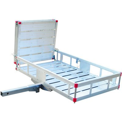 Ultra-Tow Aluminum Folding Cargo Carrier with Ramp - 500-Lb. Capacity, 49in.L x 29 1/2in.W