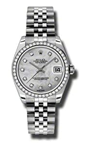 Rolex Steel 46 Diamond Bezel Datejust Lady