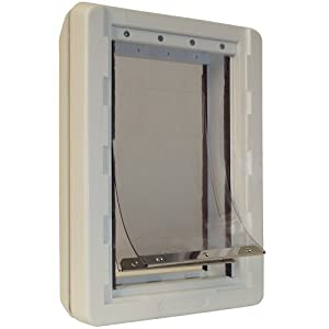Ideal Pet Products 9.75-by-17-Inch Extra-Large Ruff-Weather Pet Door with Telescoping Frame