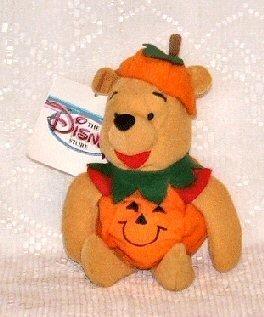 Mini Bean Bag Pumpkin Pooh - 1