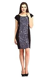Cottinfab Women Cotton Blue Dress (X-Large)