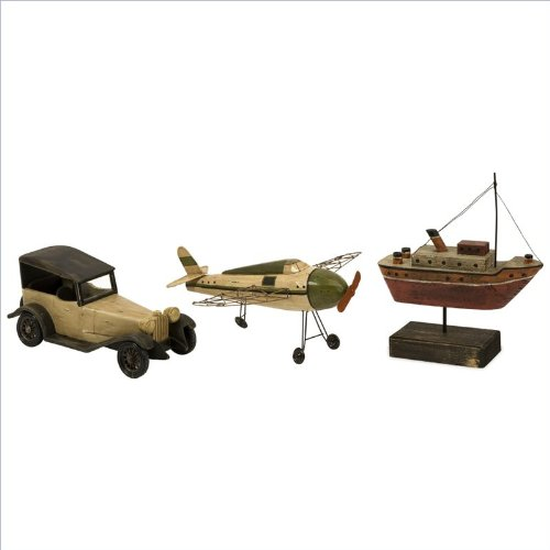 Imax Three Piece Wright Air Water And Land Transportation Model Set 50885-3