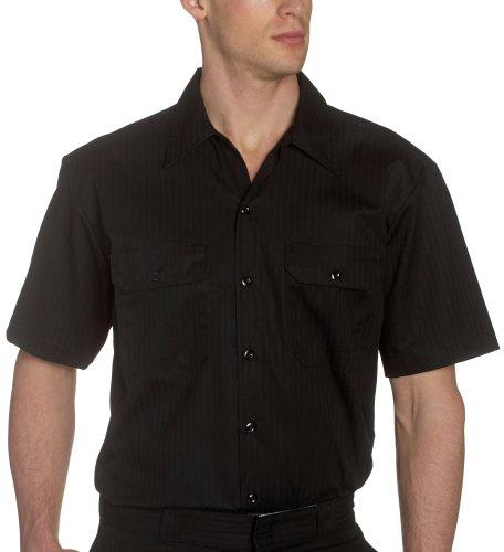 Dickies-515, colore: nero a strisce in Twill Workshirt a maniche corte, colore: nero nero Medium