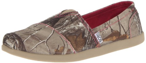 BOBS from Skechers Women's World Hide&Seek Realtree Ballet Flat,Camouflage,7 M US