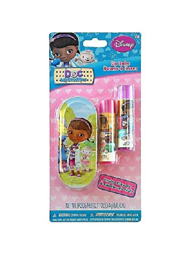 Disney Doc Mcstuffins Lip Balm Set With Mini Tin Carrying Case