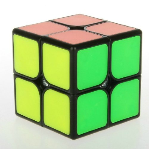 New!! Fangshi (Funs) ShiShuang 2x2 , 55mm Tiled Speed Cube Puzzle 2x2x2, Black .Big Size - 1
