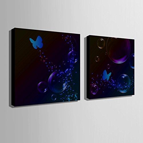 blisters-y-mariposas-led-fiber-painting-gallery-enmarcado-giclee-lienzo-art-print-ready-to-hang-nuev