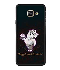 printtech Lord God Ganesha Chaturthi Back Case Cover for Samsung Galaxy A3 (2016) :: Samsung Galaxy A3 (2016) Duos with dual-SIM card slots