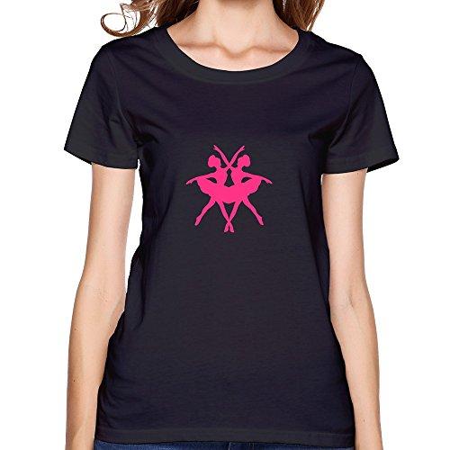 Ballet Dancers Durable Lady T-Shirt X-Small Black