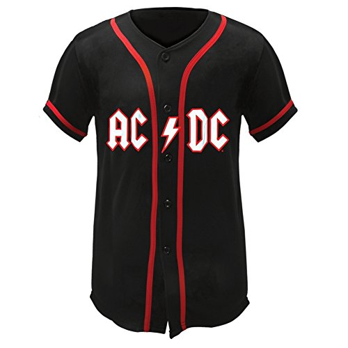 AC/DC - Official Lightning Logo Baseball Jersey - Large Only