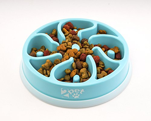 2PET Slowly Bowly, slow feed enjoyable playful dish. Prevent Bloating fun to use Dog Bowl.