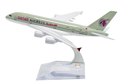 TANG DYNASTY(TM) 1:400 16cm Air Bus A380 Qatar Airways Plane Metal Airplane Model Plane Toy Plane Model (Qatar Airways Model compare prices)