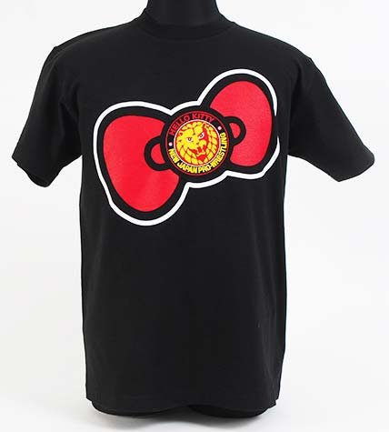 Hello Kitty x BIG Ribbon NJPW collabo T shirt (L)