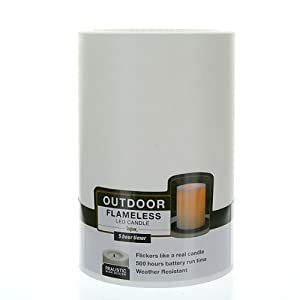 Amazon.com: Inglow Flameless Round Outdoor Candle 4 x 6