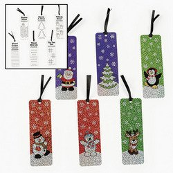 HOLIDAY BOOKMARKS WITH ACTIVITY  - BULK