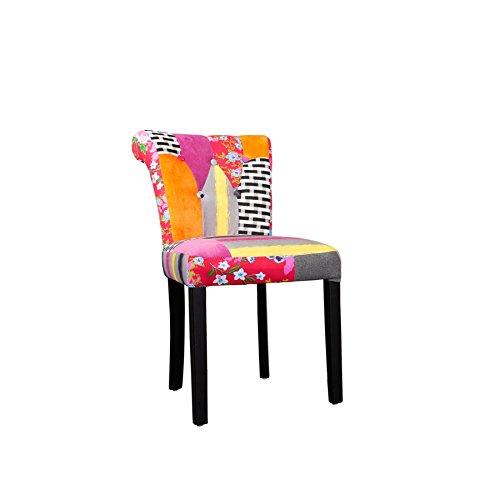 Patchwork-Design-Stuhl-GYPSY-mehrfarbig-mit-Nackenrolle