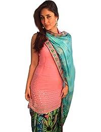 JDS Fashion Girls Cotton Salwar Suit(Light Orange_JDS_Kareena_KMD_Free Size)