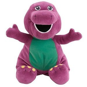 "Barney The Purple Dinosaur Toy - 25"" Huge Jumbo Huggable Barney Plush Doll front-203066"