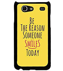 Fuson Premium Reason For Smile Metal Printed with Hard Plastic Back Case Cover for Samsung Galaxy S Advance i9070