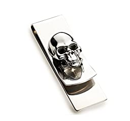 Metal Skull Cash Money Clip Credit Card Holder