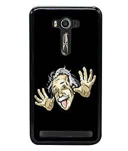 printtech Cool Einstein Back Case Cover for Asus Zenfone 2 Laser ZE500KL , Asus Zenfone 2 Laser ZE500KL (5 Inches)