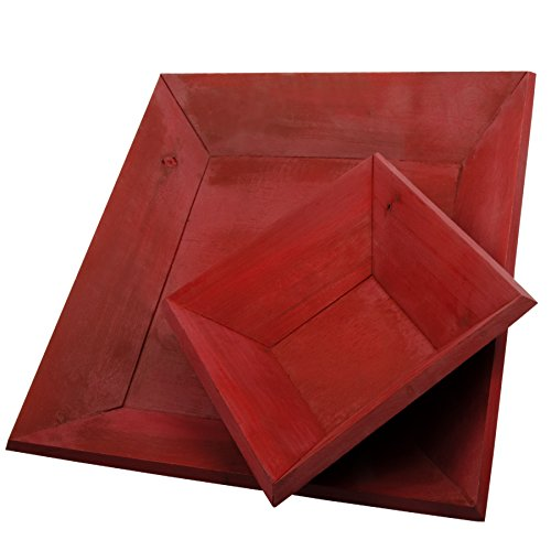 Holztablett Quadratisch - Deko - Tablett aus Holz - 35x235cm