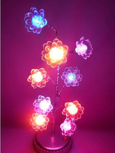 Domire Mini (Colorful) Lotus Tree Usb / Battery Led Light Lamp Home Desk Festival Christmas Decoration Colorama Ornaments